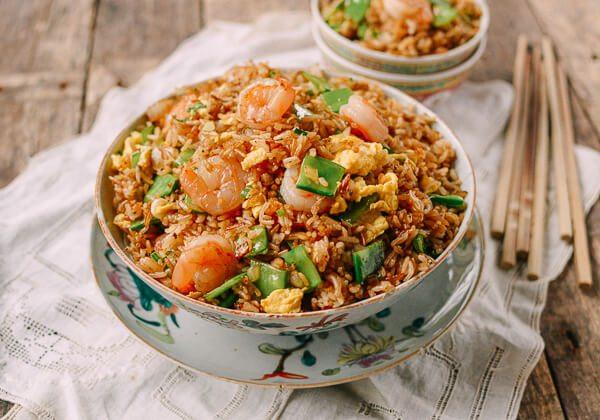 طريقة عمل الأرز المقلي مع الجمبري