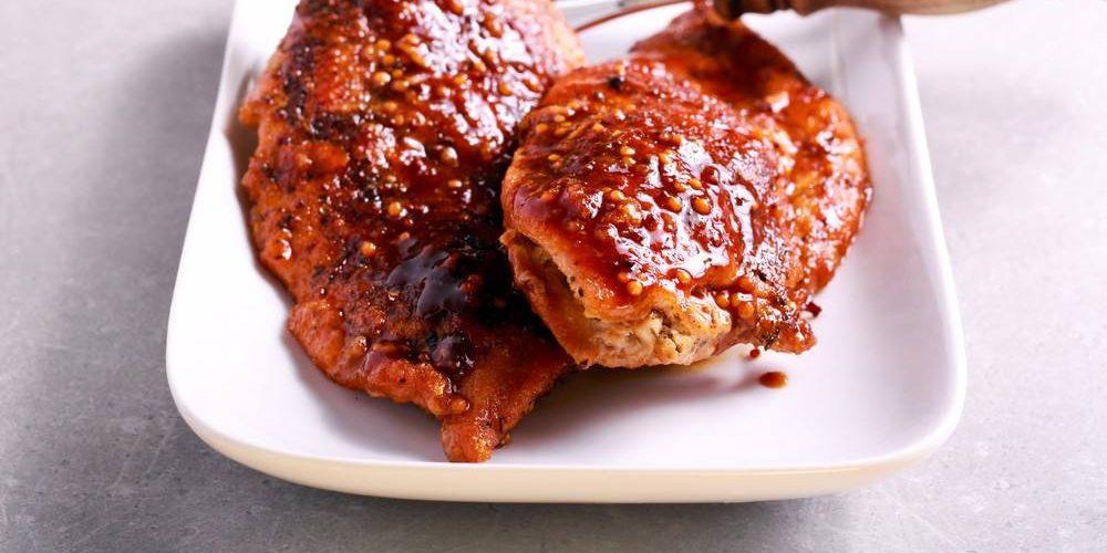 طريقة عمل شرائح الدجاج مع صوص الباربيكيو