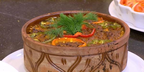 طريقة عمل طاجن القرنبيط باللحم المفروم