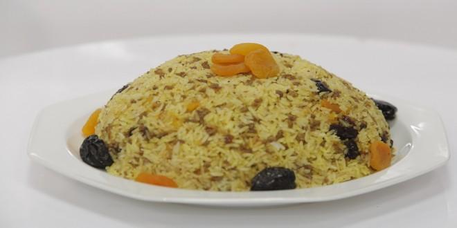 طريقة عمل الأرز باللحم والفواكه المجففة