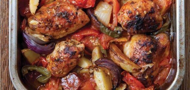 طريقة عمل صينية الدجاج بالبطاطس التركية