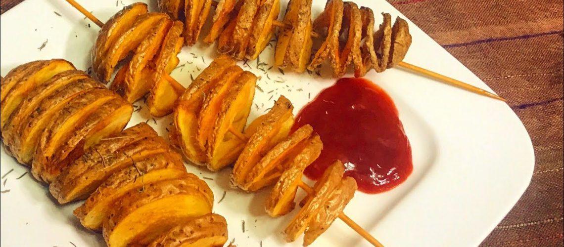 طريقة عمل بطاطس تورنادو