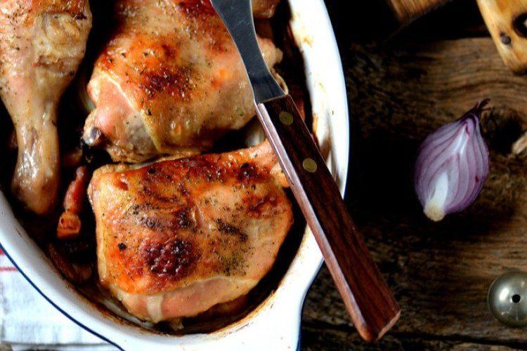 طريقة عمل صينية الدجاج بالبصل