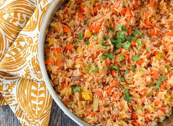 طريقة عمل الأرز المكسيكي بالخضار
