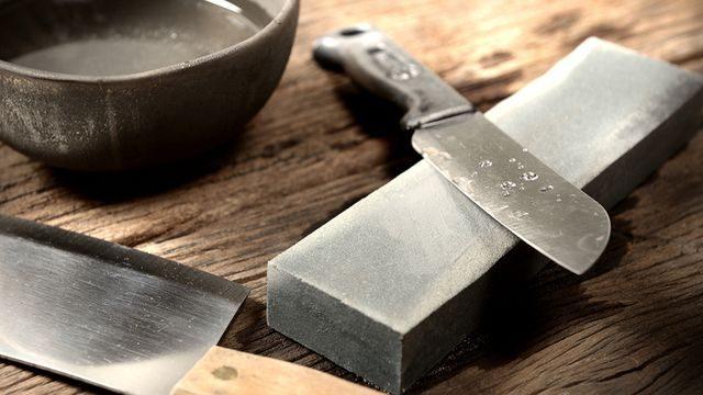 طريقة سن السكين