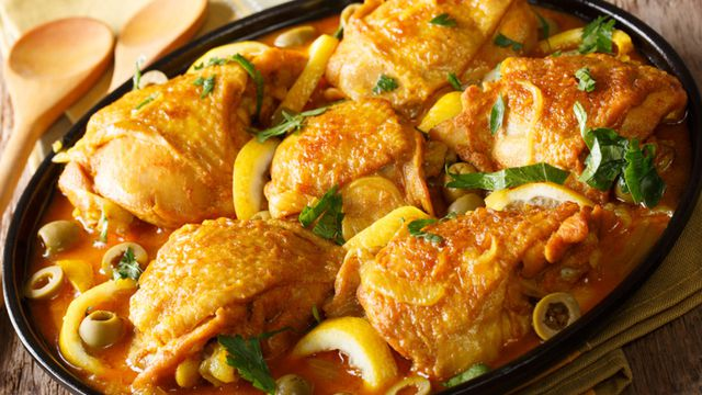 طريقة عمل طاجين الدجاج