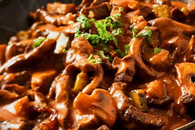 طريقة عمل ايدام اللحم بالفطر