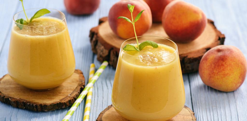 طريقة عمل سموثى الخوخ و البرتقال
