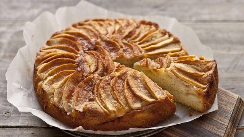 طريقة عمل كيكة التفاح دايت