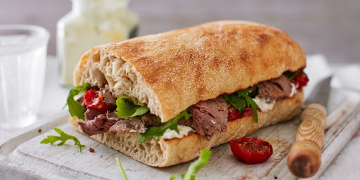 طريقة عمل ساندويش روست بيف