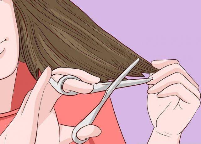 ما هي طريقة قص الشعر المحروق؟